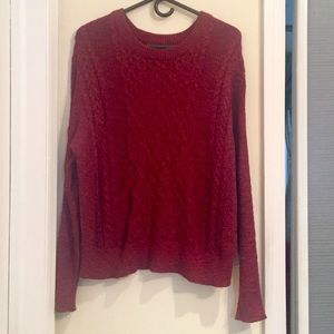 Women's Full Sleeve Red Mossimo Sweater